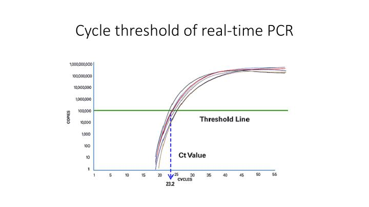 Cycle threshold of real-time PCR