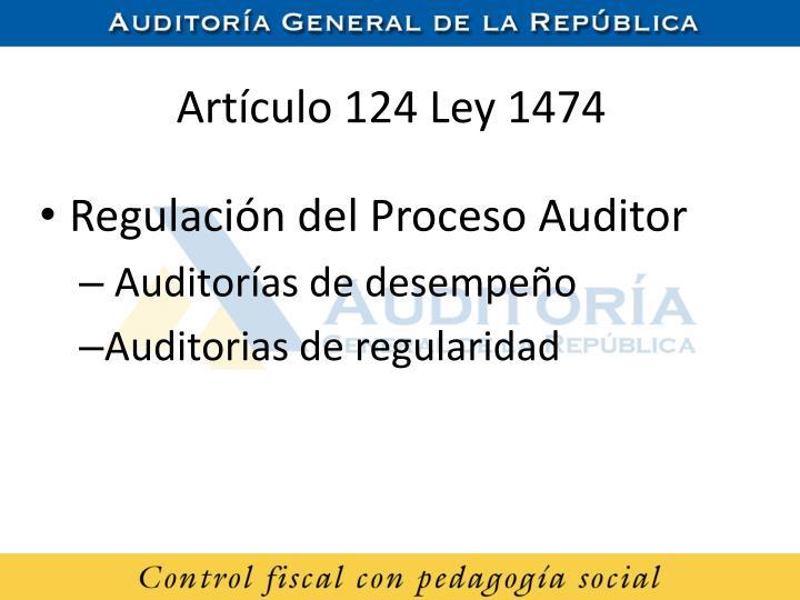 Artículo 124 Ley 1474