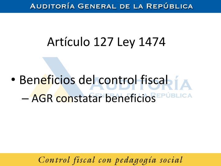 Artículo 127 Ley 1474