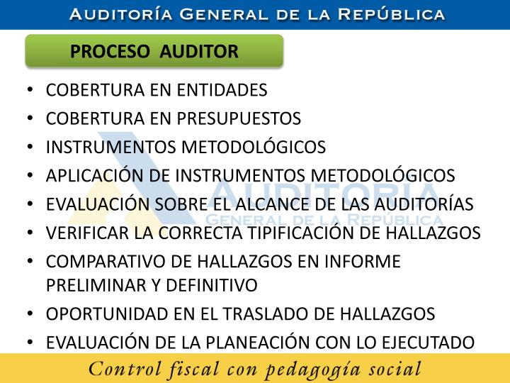 PROCESO  AUDITOR