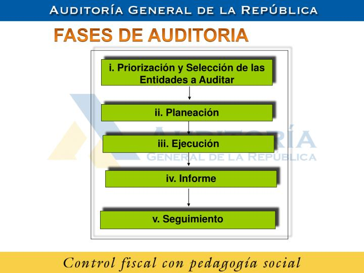i. Priorización y Selección de las Entidades a Auditar