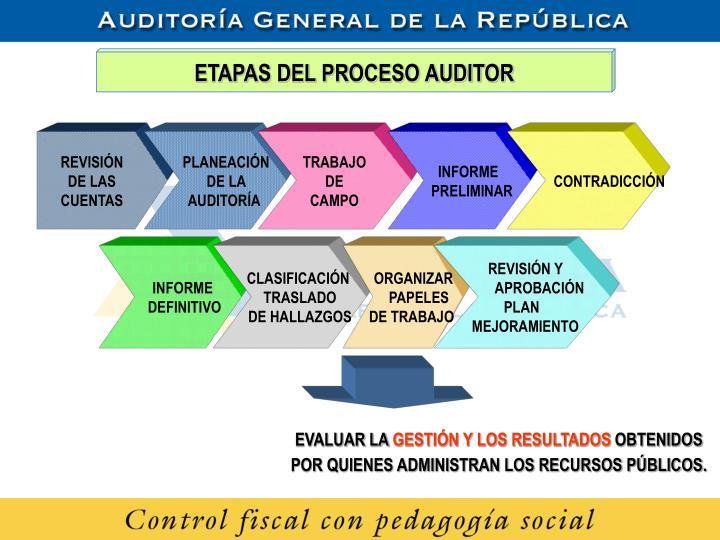 ETAPAS DEL PROCESO AUDITOR