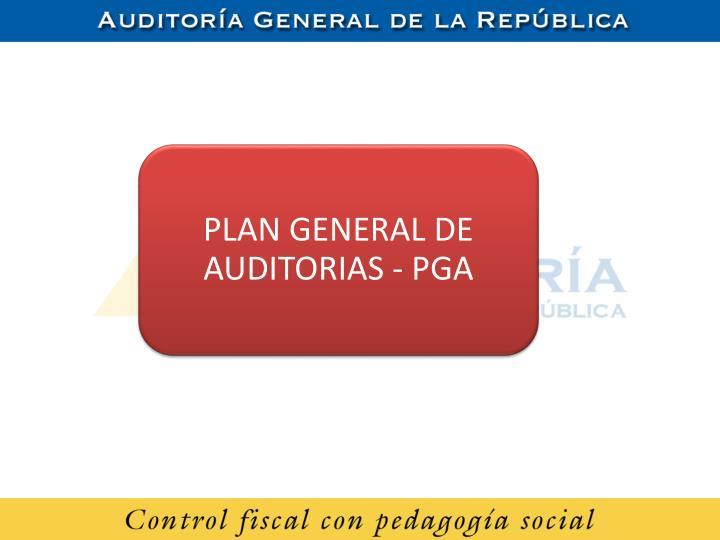 PLAN GENERAL DE AUDITORIAS -