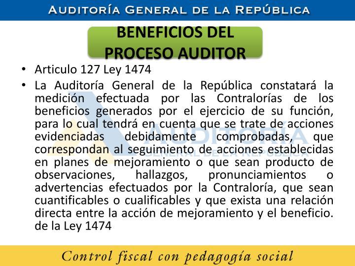 BENEFICIOS DEL PROCESO AUDITOR