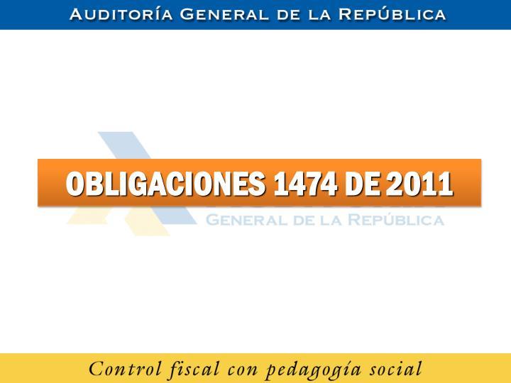 OBLIGACIONES 1474 DE 2011