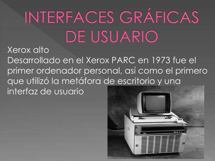INTERFACES GRÁFICAS DE USUARIO