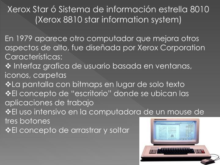 Xerox Star ó Sistema de información estrella 8010