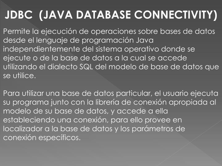 JDBC  (