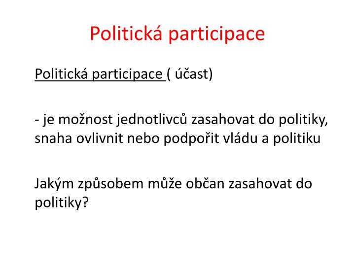 Politická participace