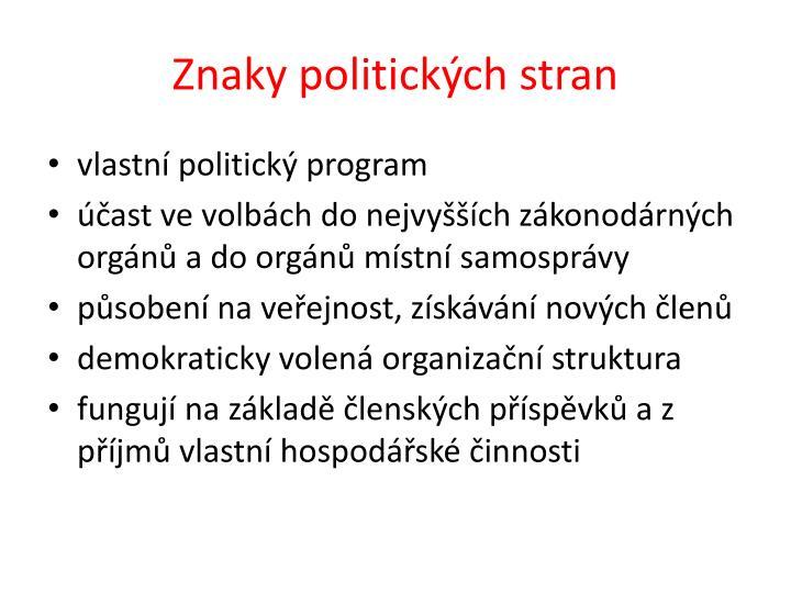 Znaky politických stran