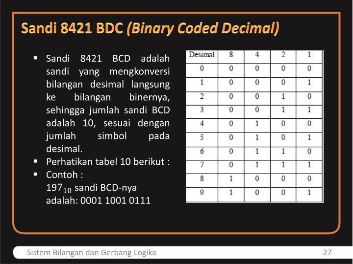 Sandi 8421 BDC