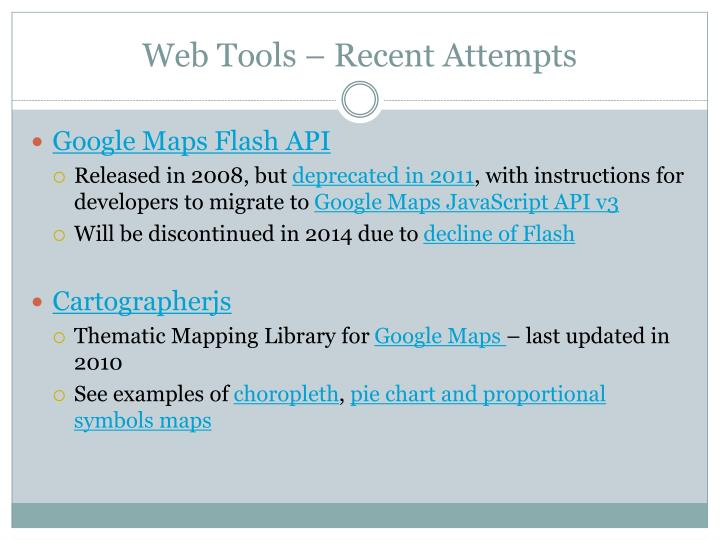 Web Tools – Recent Attempts