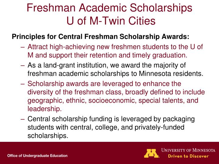 Freshman Academic Scholarships