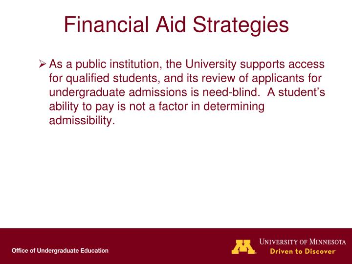Financial Aid Strategies