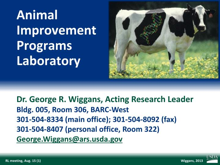 Animal improvement programs laboratory