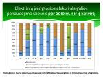 elektrini rengtosios elektrin s galios panaudojimo laipsnis per 2010 m 1 ir 4 ketvirt