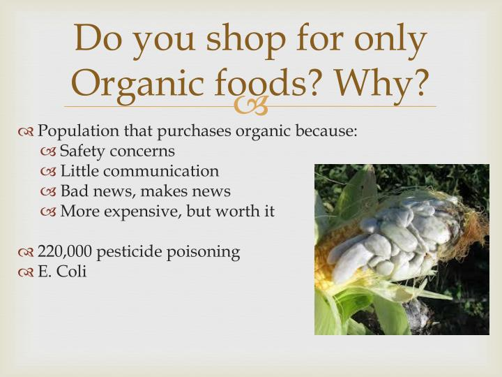 Do you shop for only Organic foods? Why?