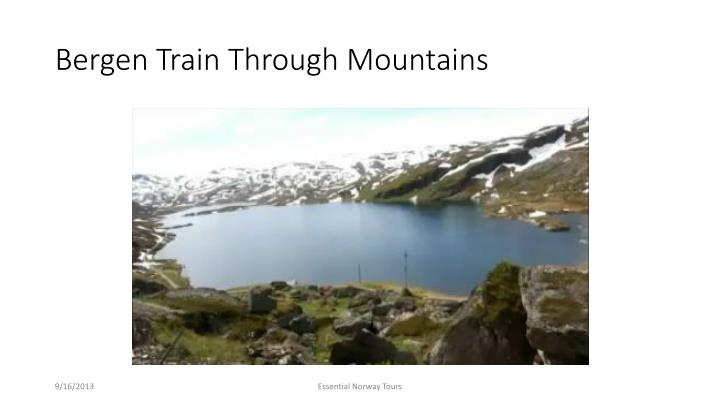 Bergen Train Through Mountains