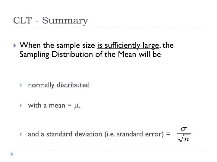 CLT - Summary