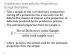 confidence intervals for proportions large samples1