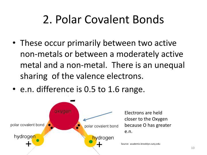 2. Polar Covalent Bonds