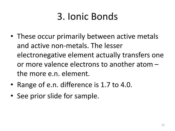 3. Ionic Bonds