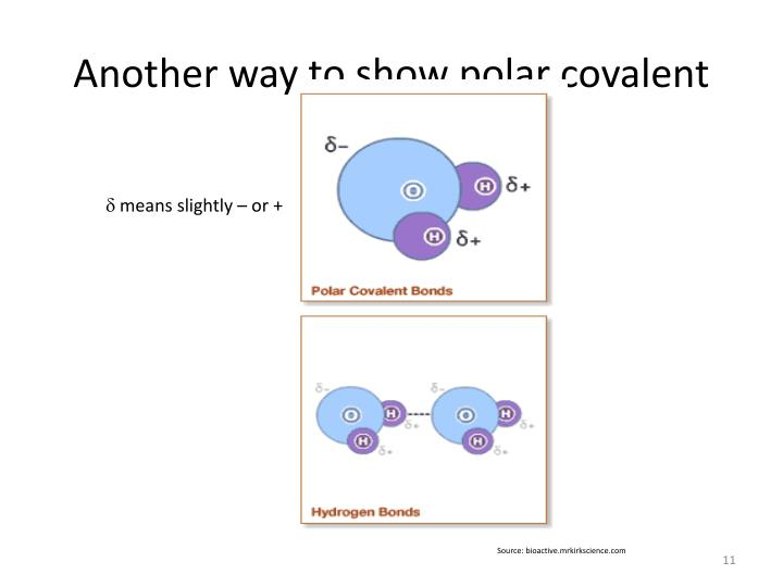 Another way to show polar covalent