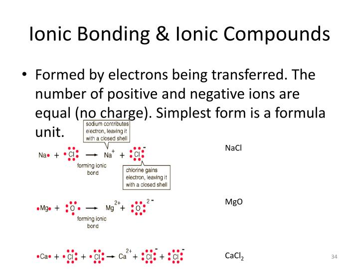 Ionic Bonding & Ionic Compounds