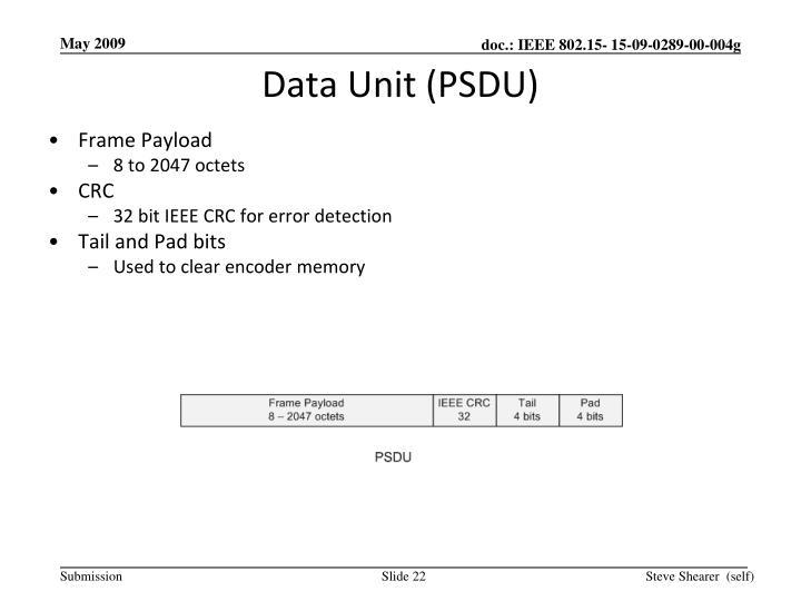 Data Unit (PSDU)