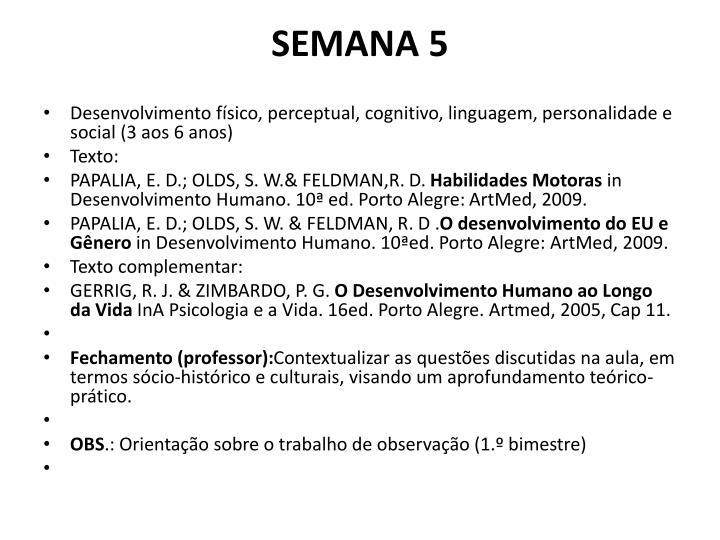 SEMANA 5