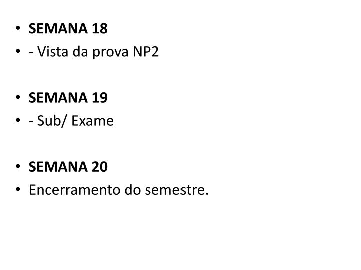 SEMANA 18