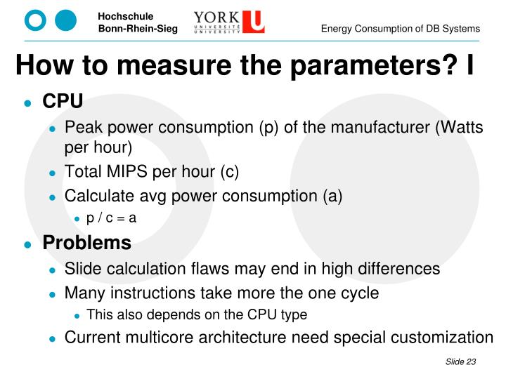 How to measure the parameters? I