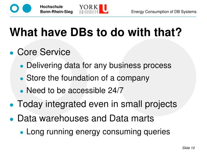 What have DBs to do with that?