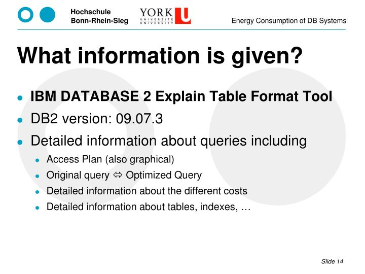 What information is given?