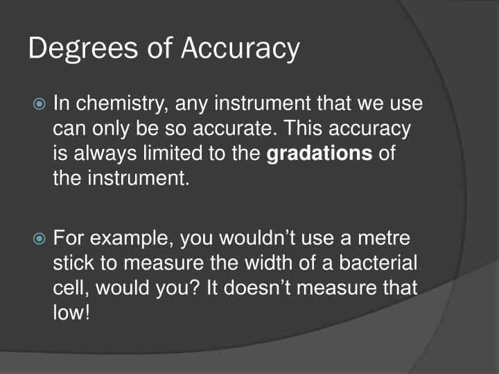 Degrees of Accuracy
