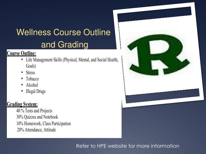 Wellness Course Outline