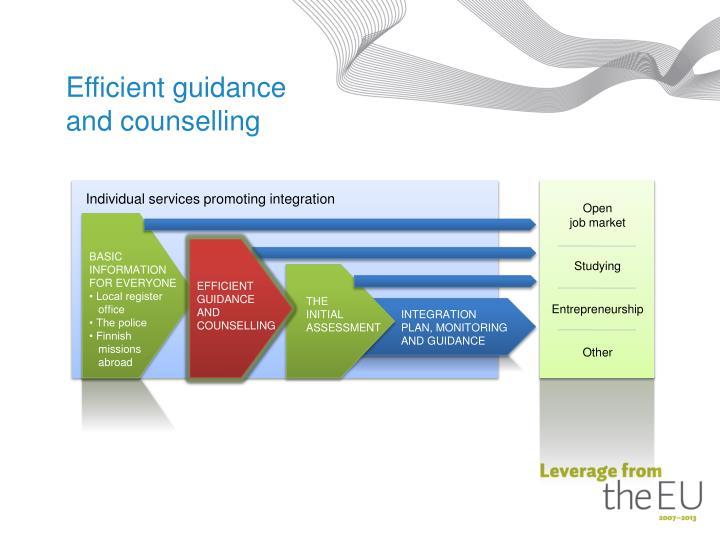 Efficient guidance