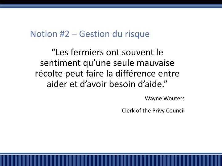 Notion #2 –