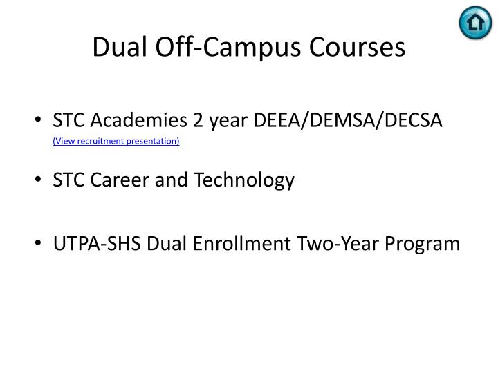 Dual Off-Campus Courses