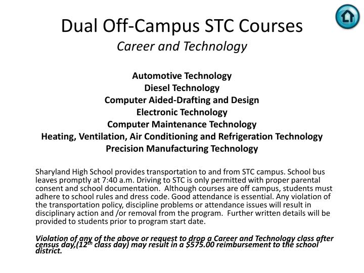 Dual Off-Campus STC Courses