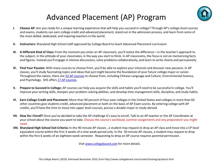 Advanced Placement (AP) Program