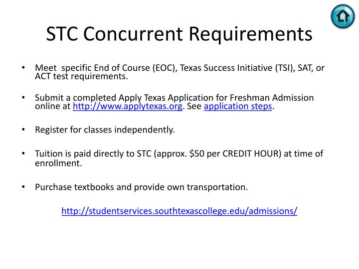 STC Concurrent Requirements