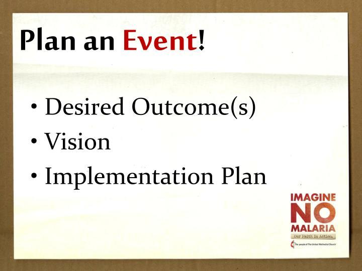 Plan an