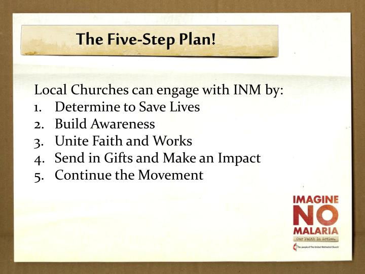 The Five-Step Plan!