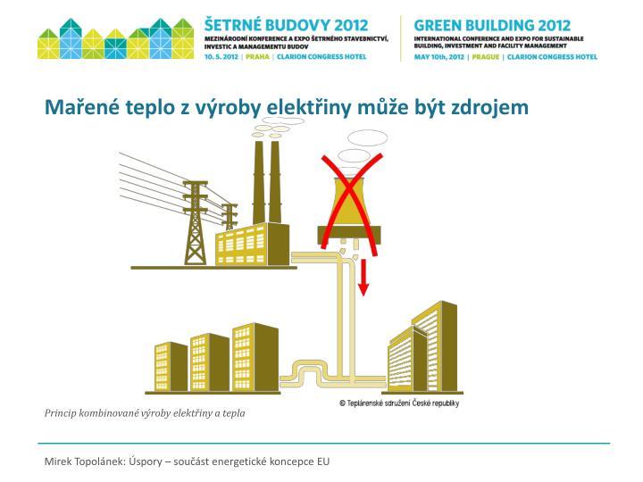 Mařené teplo z výroby elektřiny může být zdrojem