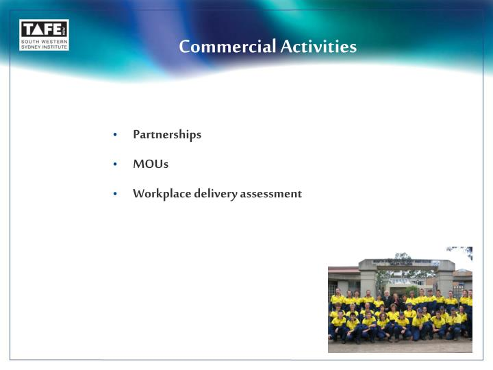 Commercial Activities