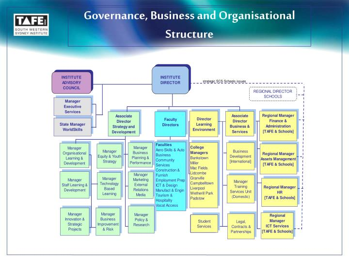Governance, Business and Organisational Structure