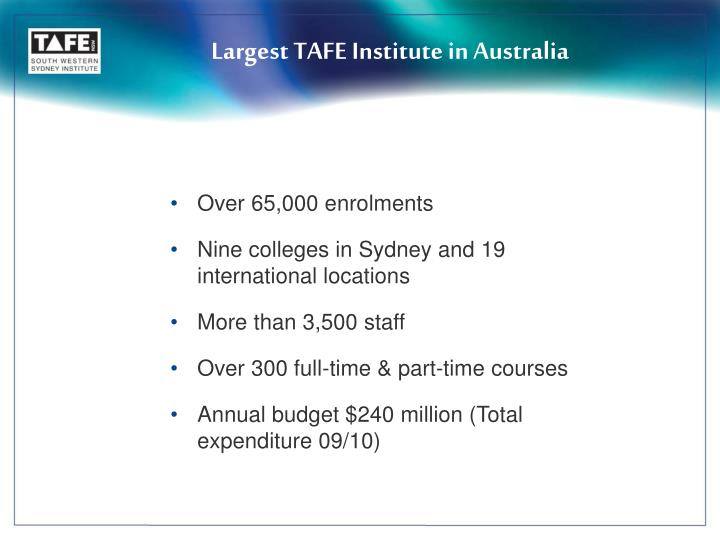 Largest TAFE Institute in Australia