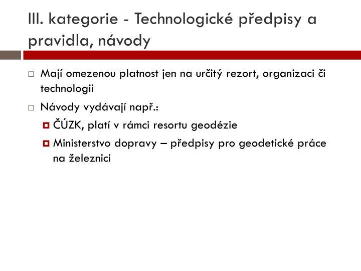 III. kategorie -