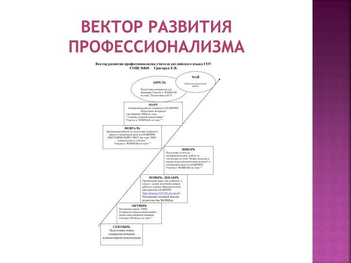 Вектор развития профессионализма